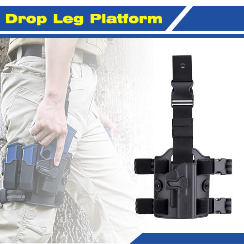 Airsoft Drop Leg Platform - Compatible with all Amomax Holster, Double Magazine Pouch | Amomax