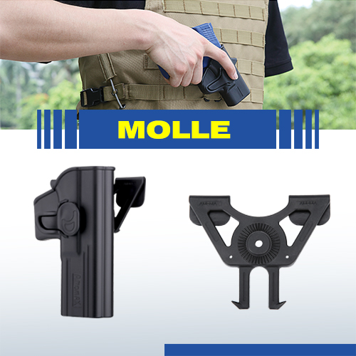 Airsoft  Amomax Tactical MOLLE attachment  black for holster and tactical vest