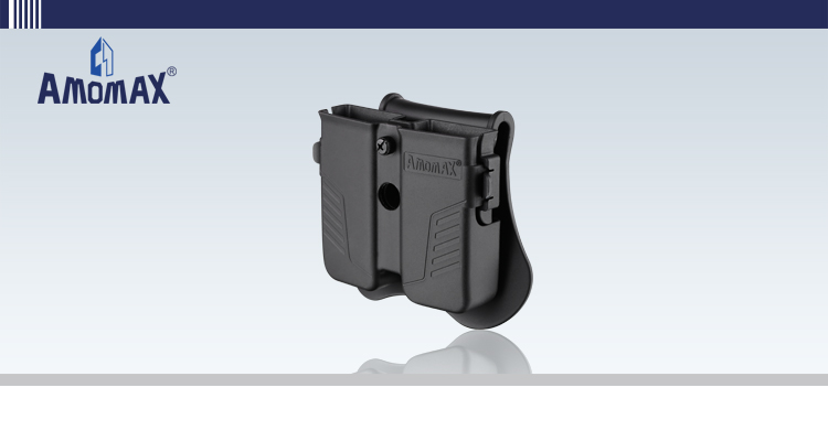 Amomax universal double magazine pouch AM-MPU for universal 9mm, .40, .45 caliber, single or double stack magazines