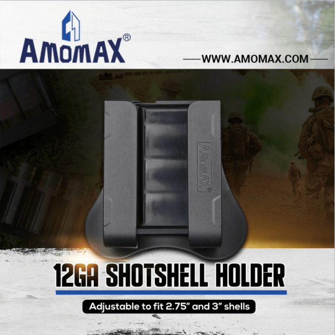 Hold 4 rounds 12GA shotshells, length 60mm to 76mm