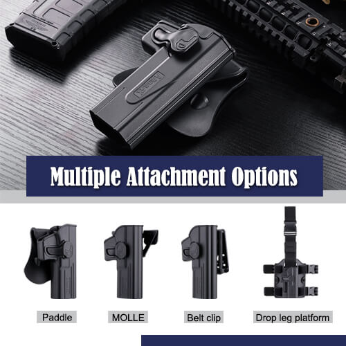 Amomax holster with 4 carrying attachment