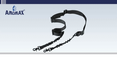 Two Point Sling with Round Hook - Black | Amomax