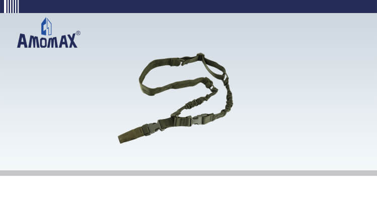 Padded Single Point Sling with HK Style Clip for Heavy Duty - OD Green | Amomax